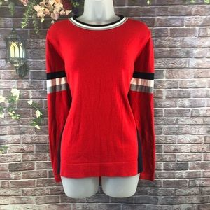 Crow & Ivy Women's Red Sweaters Cardigan Size L